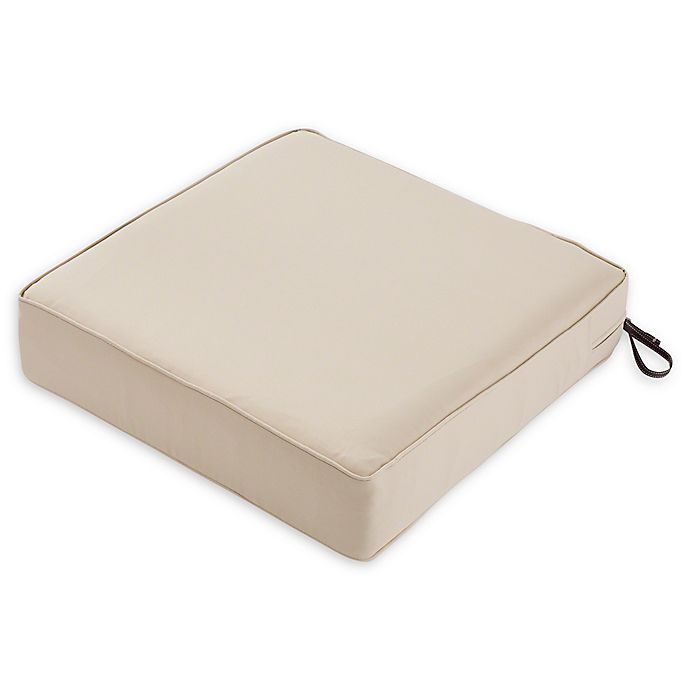 Alternate image 1 for Classic Accessories® Montlake™ Fadesafe Square Patio Lounge Seat Cushion in Beige