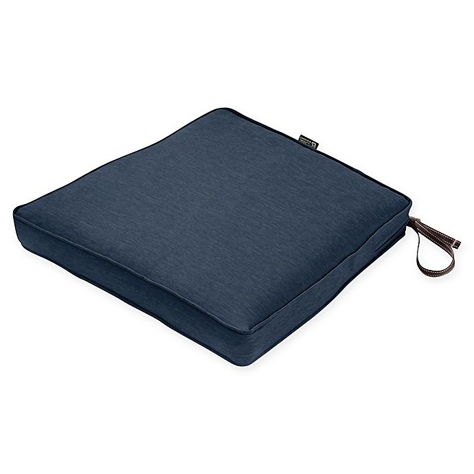 Alternate image 1 for Classic Accessories® Montlake™ Fadesafe 15-Inch Dining Seat Cushion in Blue