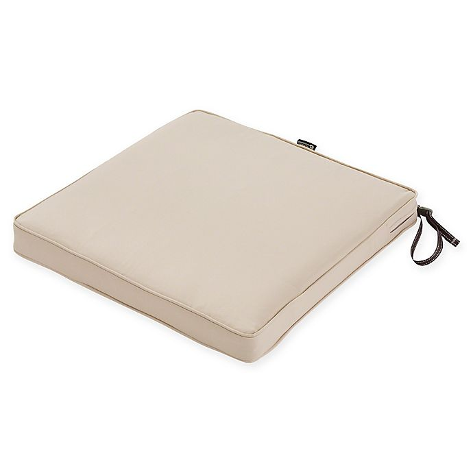 Alternate image 1 for Classic Accessories® Montlake™ Fadesafe 15-Inch Dining Seat Cushion in Beige