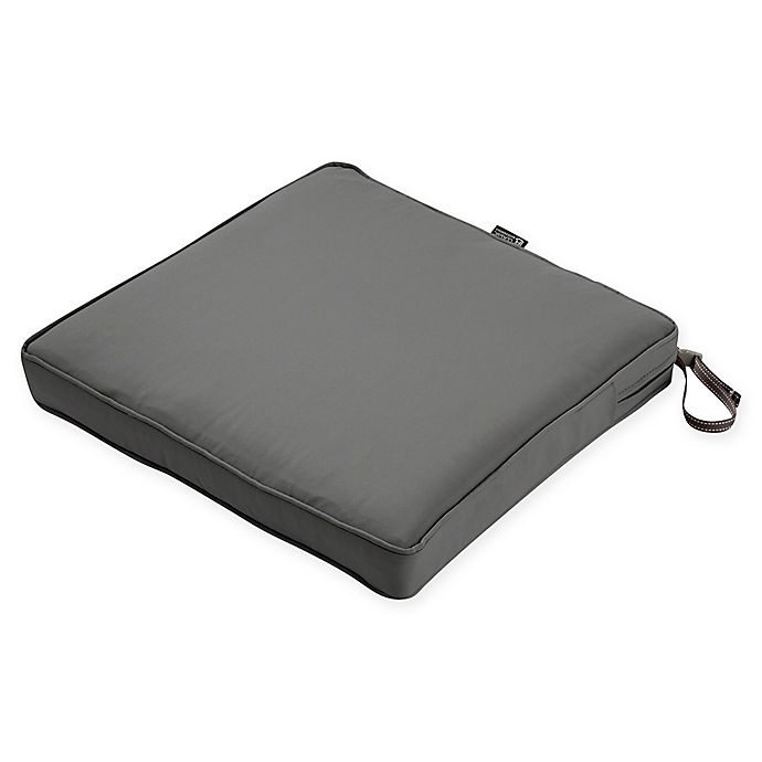 Alternate image 1 for Classic Accessories® Montlake™ Fadesafe 15-Inch Dining Seat Cushion in Charcoal