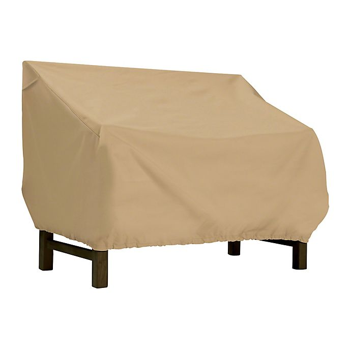 Alternate image 1 for Classic Accessories Terrazzo Small Bench/Loveseat Cover in Sand