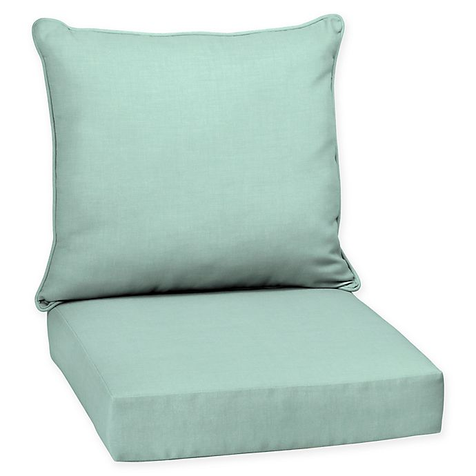 Selections By Arden Leala Deep Seat Outdoor Chair Cushion In Aqua
