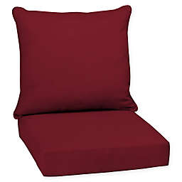 Selections By Arden Caliente Canvas Deep-Seat Outdoor Chair Cushion in Red