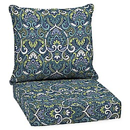 Arden Selections™ Aurora Damask 2-Piece Outdoor Deep Seat Cushion Set in Sapphire