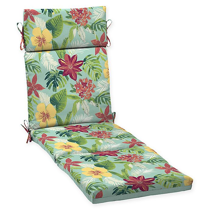 Arden Selections Outdoor Elea Tropical Chaise Cushion Blue Bed Bath Amp Beyond