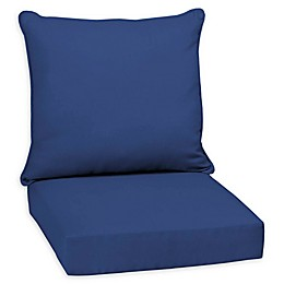 Arden Selections™ Lapis Canvas Texture Outdoor Deep Seat Cushion in Blue