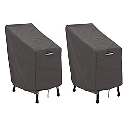 Classic Accessories® Ravenna® 2-Pack Patio Bar Chair & Stool Covers in Dark Taupe