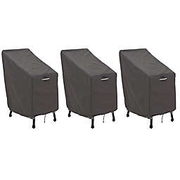 Classic Accessories® Ravenna® 3-Pack Patio Bar Chair & Stool Covers in Dark Taupe