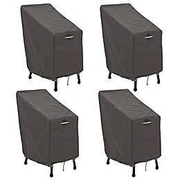 Classic Accessories® Ravenna® 4-Pack Patio Bar Chair & Stool Covers in Dark Taupe