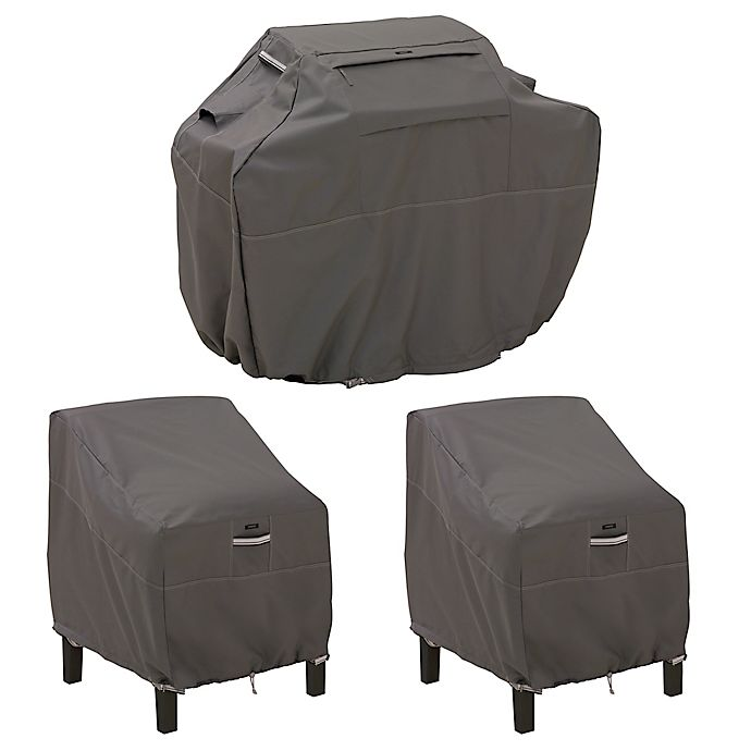 Alternate image 1 for Classic Accessories® Ravenna® Grill and Patio Lounge Chair Cover Set in Dark Taupe
