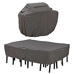 Classic Accessories® Ravenna® Grill and Patio Table and Chair Cover Set in Dark Taupe