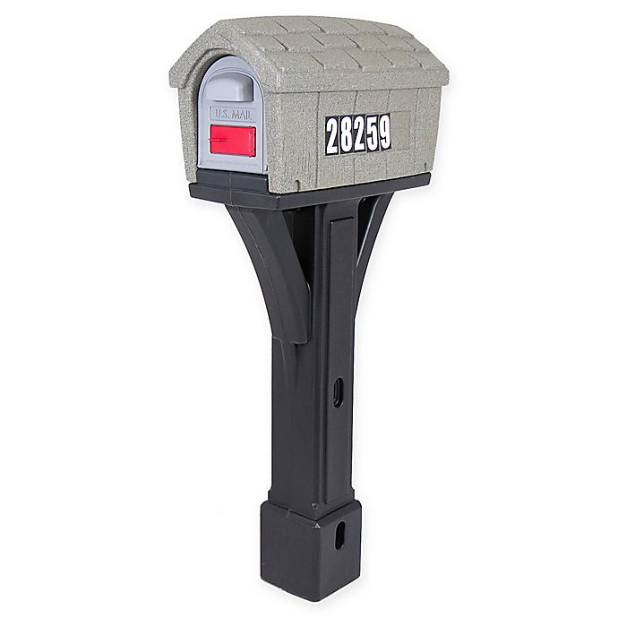 Alternate image 1 for Simplay3® Classic Home Mailbox in Grey/Black