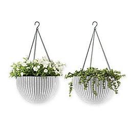 Keter Indoor/Outdoor Hanging Rattan Planters (Set of 2)