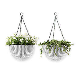 Keter Indoor/Outdoor Hanging Rattan Planters (Set of 2)