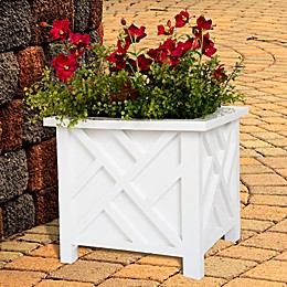 Pure Garden Box Plant Holder in White