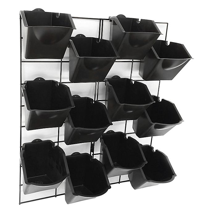 Alternate image 1 for Stratco Vertical Wall Garden in Black