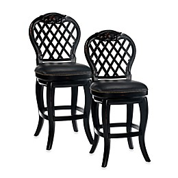 Hillsdale Braxton Swivel Stool in Black