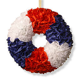 National Tree Company 18-Inch Patriotic Rose Wreath in Red