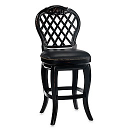 Hillsdale Braxton 30-Inch Swivel Bar Stool in Black