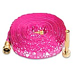 Yeiser 50' HydroHose in Pink Pawprint with Adjustable Brass Nozzle