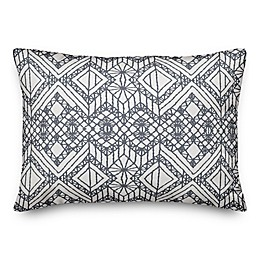 Designs Direct Macrame Oblong Outdoor Throw Pillow in Grey
