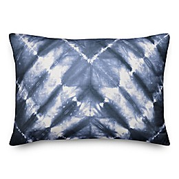 Designs Direct Shibori Oblong Outdoor Throw Pillow in Blue