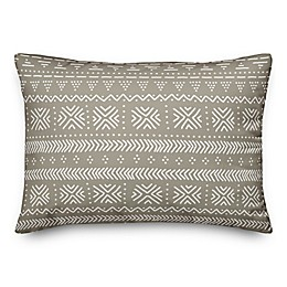 Designs Direct Sketch Pattern Oblong Outdoor Throw Pillow in Taupe