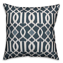 Designs Direct Kirkwood Square Outdoor Throw Pillow in Blue/Grey