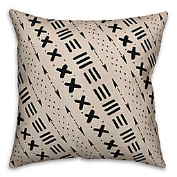 Designs Direct Tribal Square Outdoor Throw Pillow in Black/Beige