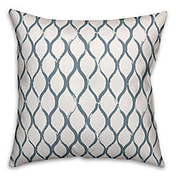 Designs Direct Fishnet Square Outdoor Throw Pillow in Slate