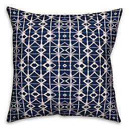 Designs Direct Shibori  Indoor/Outdoor Square Throw Pillow in Black/White