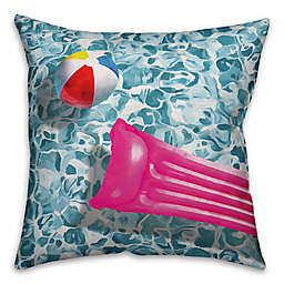 Designs Direct Pool Toy Indoor/Outdoor Square Throw Pillow
