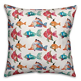 Designs Direct Fish Indoor/Outdoor Square Throw Pillow