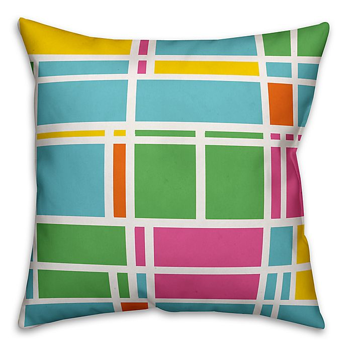 Alternate image 1 for Designs Direct Summer Geometric Indoor/Outdoor Square Throw Pillow