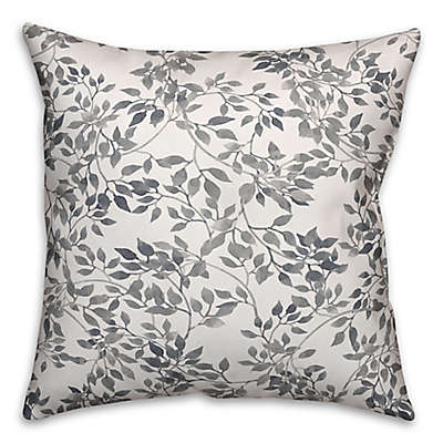 Designs Direct Lattice Indoor/Outdoor Square Throw Pillow in Grey