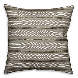 Designs Direct Box Dash Indoor/Outdoor Square Throw Pillow in Taupe