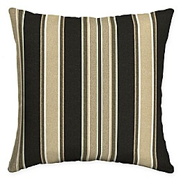 Arden Selections Sandstone Aurora Outdoor Square Throw Pillow in Black
