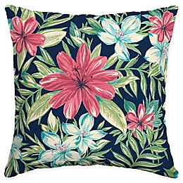 Selections by Arden Clarissa Tropical Square Outdoor Throw Pillow in Sapphire