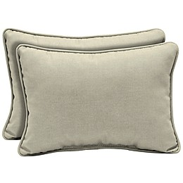 Arden Selections™ Leala Oblong Lumbar Pillows in Grey (Set of 2)