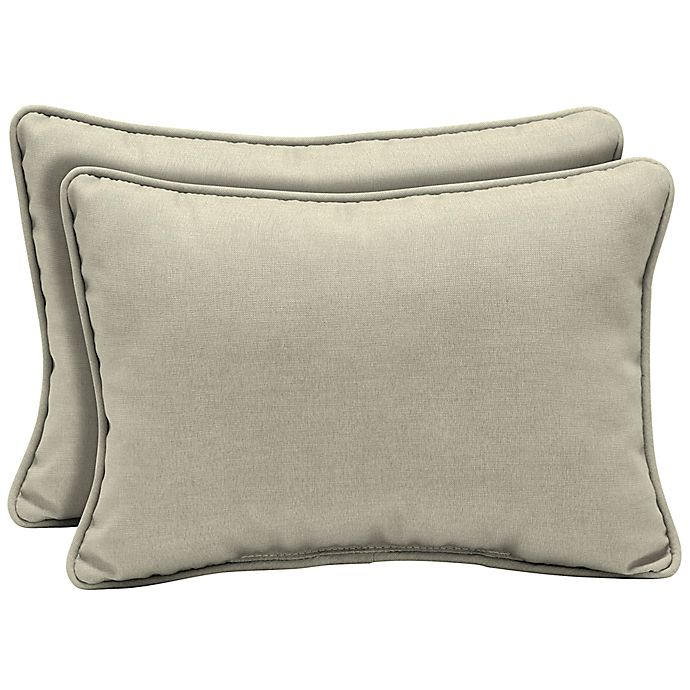 Alternate image 1 for Arden Selections™ Leala Oblong Lumbar Pillows in Grey (Set of 2)