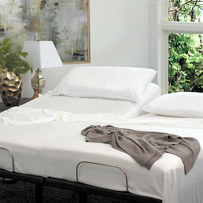 Alternate image 1 for Cariloha® Resort Viscose made from Bamboo Split King Sheet Set in White