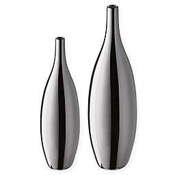 Madison Park Signature 2-Piece Tommen Ceramic Vase in Silver