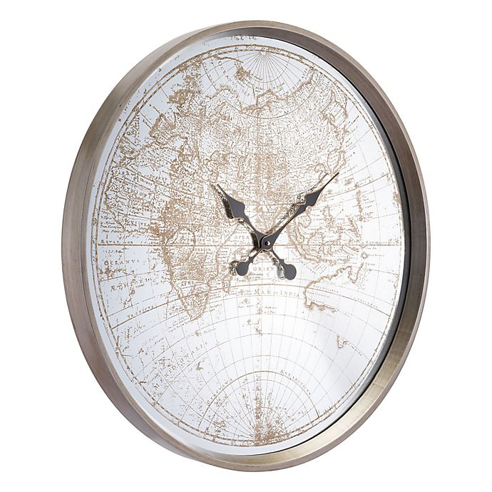 Alternate image 1 for Zuo® Modern Hora Wall Clock in Antique Silver
