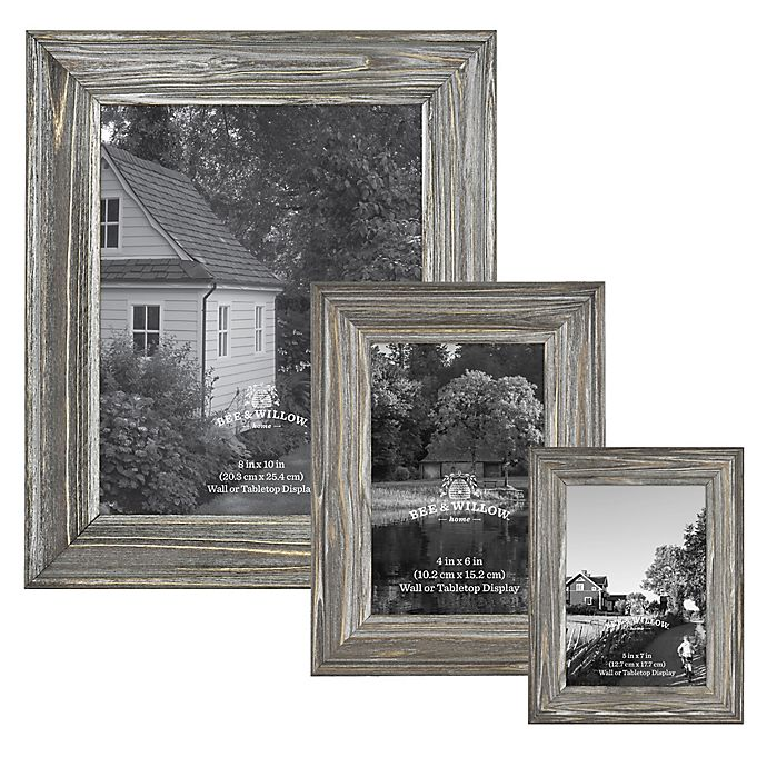 Alternate image 1 for Bee & Willow™ Home Wood Frame in Aged Silver