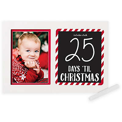 Pearhead® Holiday 5-Inch x 7-Inch Countdown to Christmas Picture Frame with Included Chalk