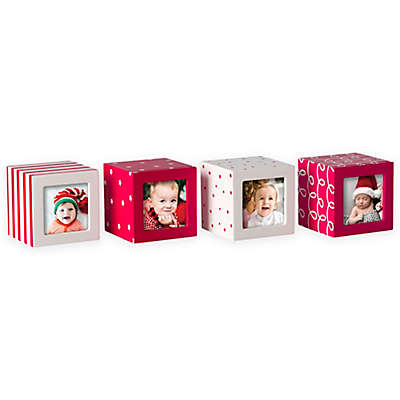 Pearhead Holiday Photo Blocks (Set of 4)