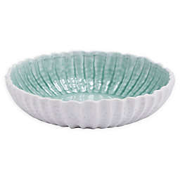 Zuo® Modern Fiore Porcelain Bowl in White/Green
