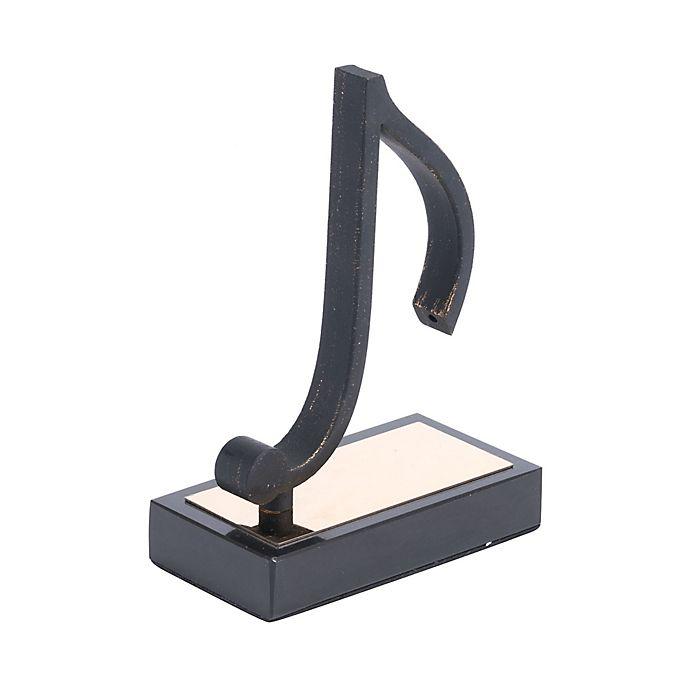 Alternate image 1 for Zuo® Iron Quaver Note Figurine