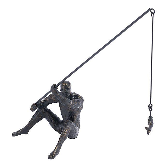 Alternate image 1 for Zuo® Iron Fisherman Figurine