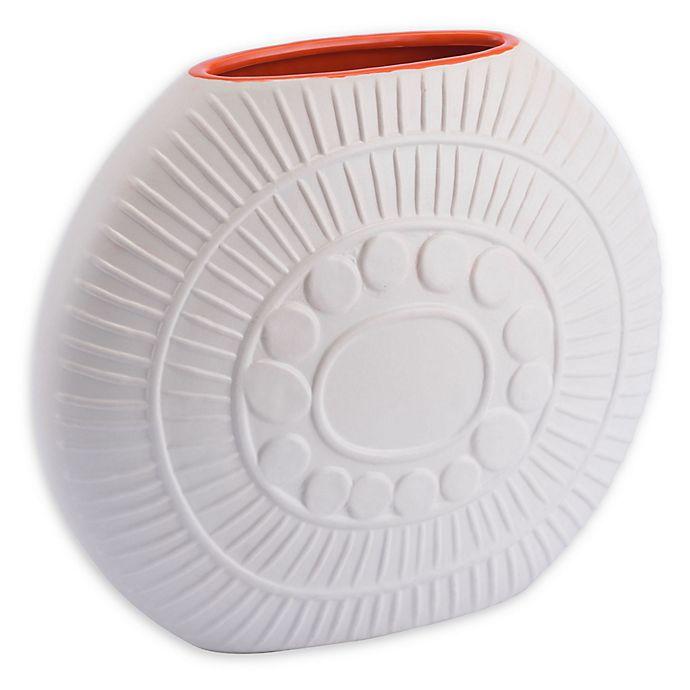 Alternate image 1 for Zuo® Modern Stampa Vase in Matte White/Orange